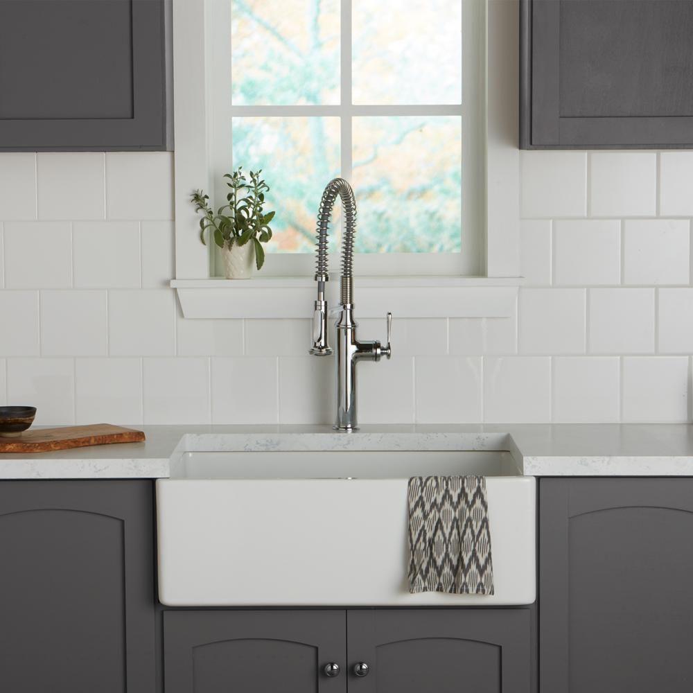 Daltile Restore Bright White 6 in. x 6 in. Ceramic Wall Tile (12.50 ...