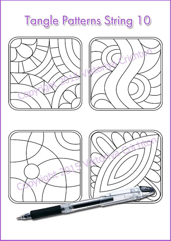 tangle pattern printable string pdf string art template