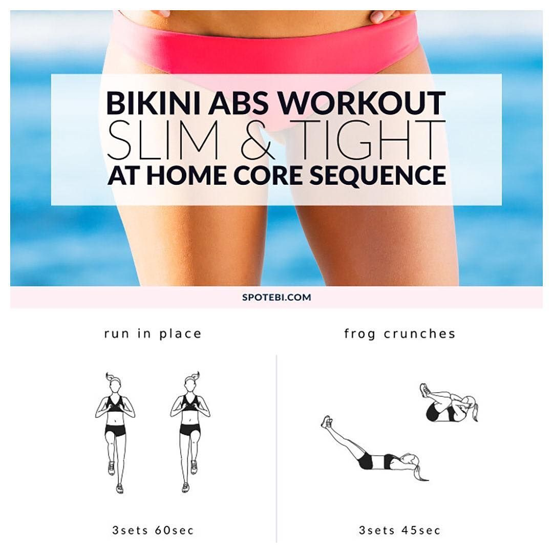 Cinch your entire core and get your tummy slim and tight with this at home bikini #abs #workout. Complete this sequence once a week and maintain a healthy diet to achieve a firm stomach in no time!  here you come!!!  https://www.spotebi.com/workout-routines/at-home-bikini-abs-workout/ @spotebi
