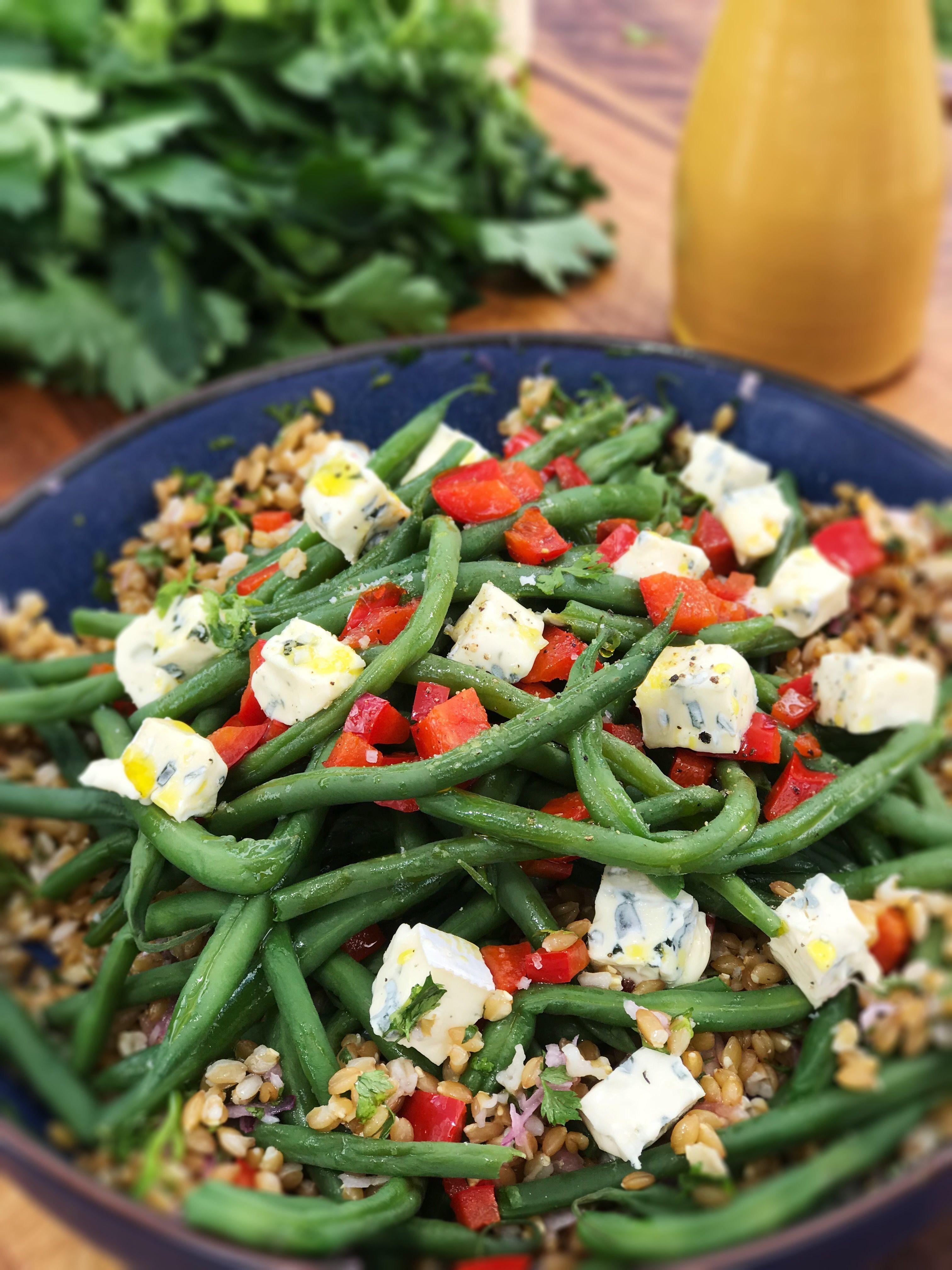 Ma recette de salade d'épeautre aux haricots verts et bleu ...