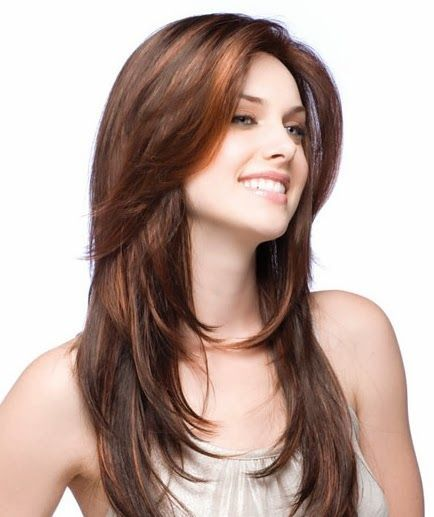 Straight Hair Round Face Straight Hair Long Layered Hairstyles 5