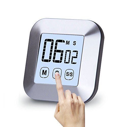 Timer da cucina magnetico, geekhom digitale touch screen Count ...