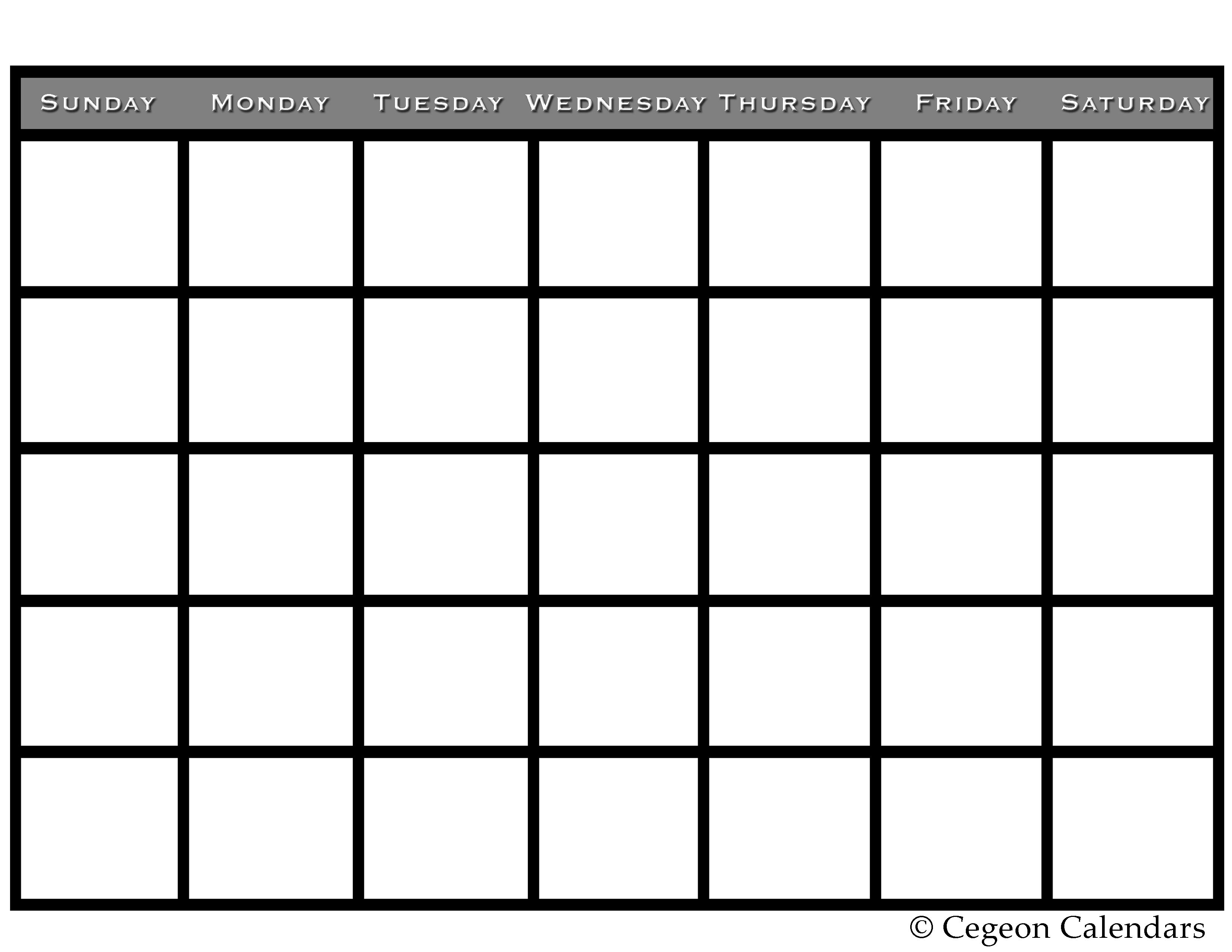 Get your free printable blank calendar | Printables | Pinterest ...