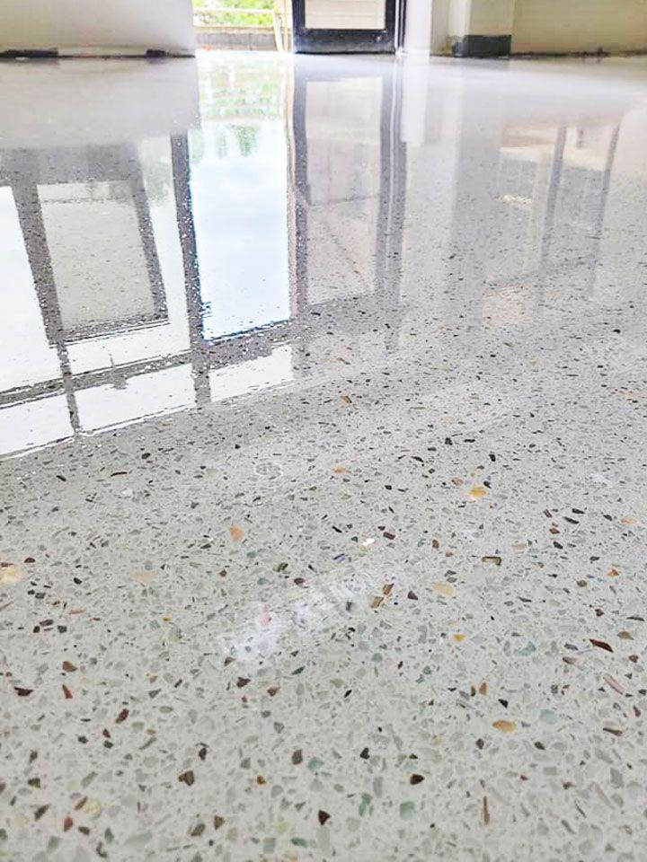 Photo of White Terrazzo Floor