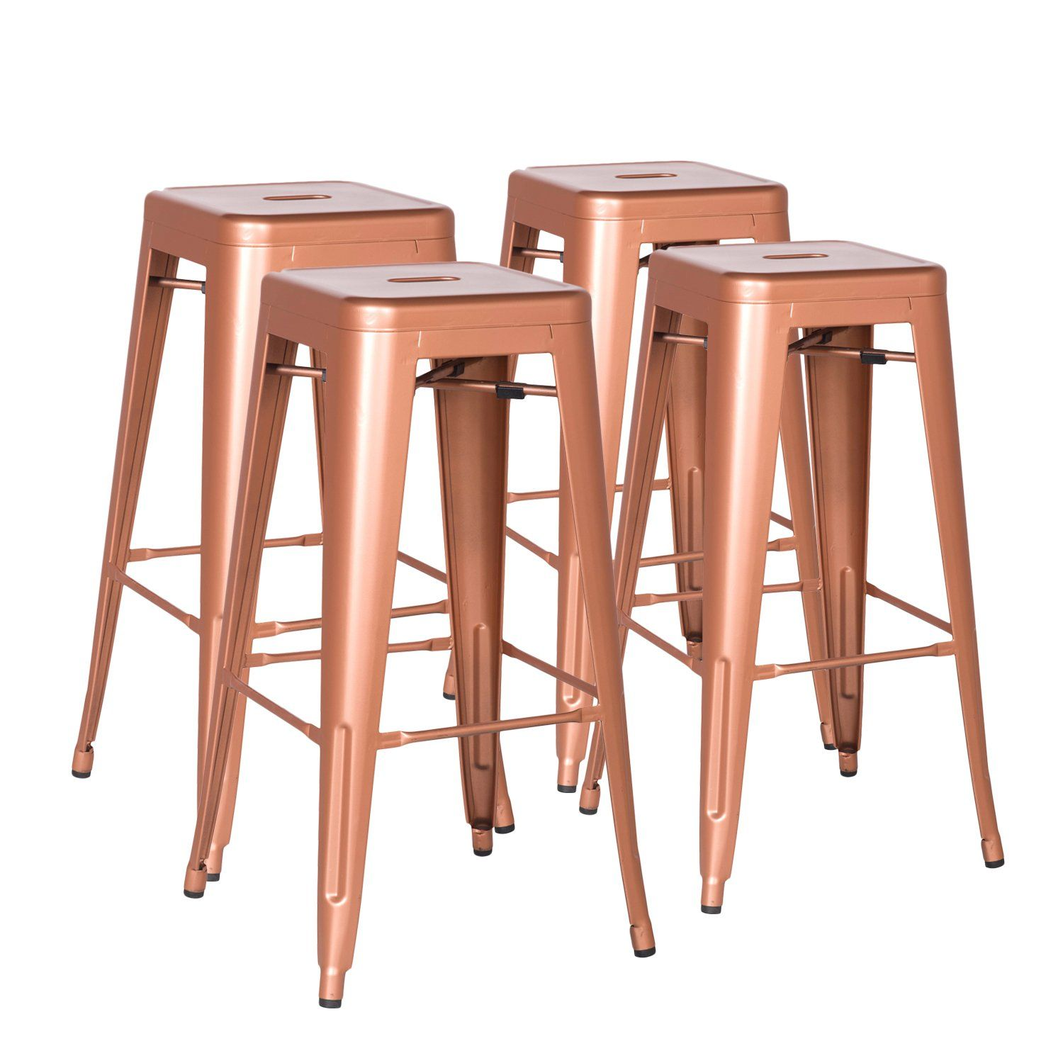 Joveco 30 Inches Sheet Metal Frame Industrial Tolix Style Bar Stool Set Of 2 Copper Check This Awesome Product By Going To Th Bar Stools Metal Frame Tolix