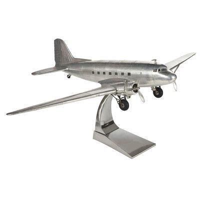 17 Stories Castiel Dakota Dc 3 Plane Sculpture Wayfair In 2020 Aviation Decor Model Airplanes Vintage Airplanes