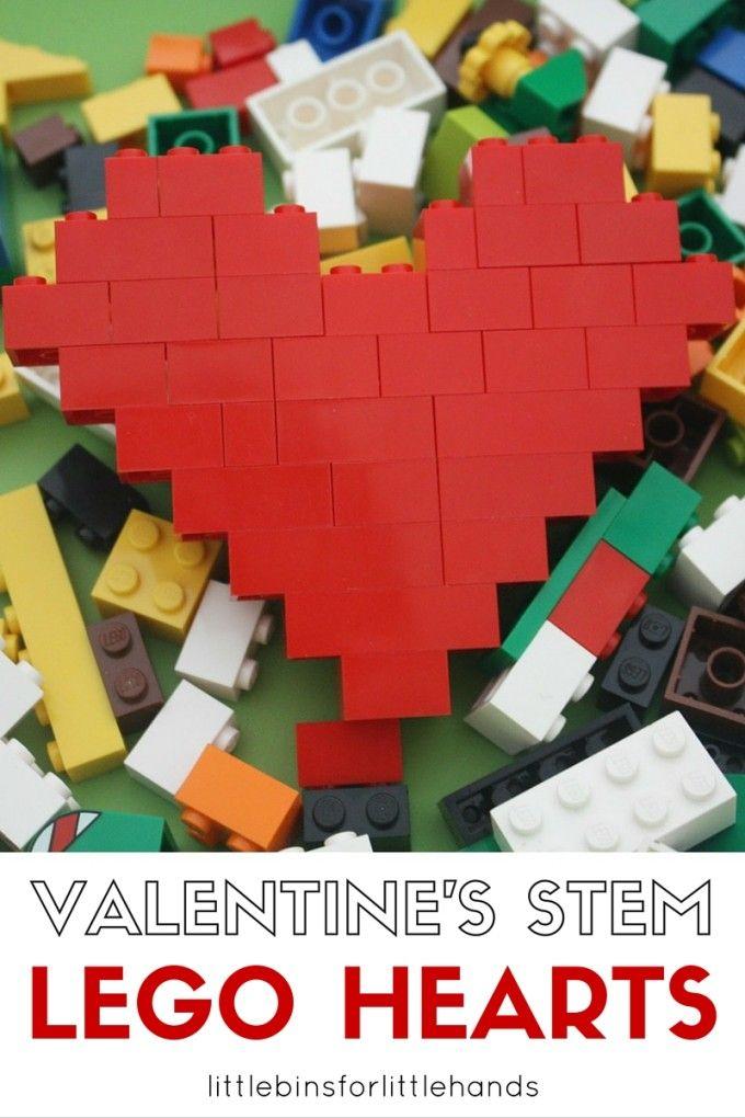 LEGO Heart Valentine's Day STEM Activity for Kids ...