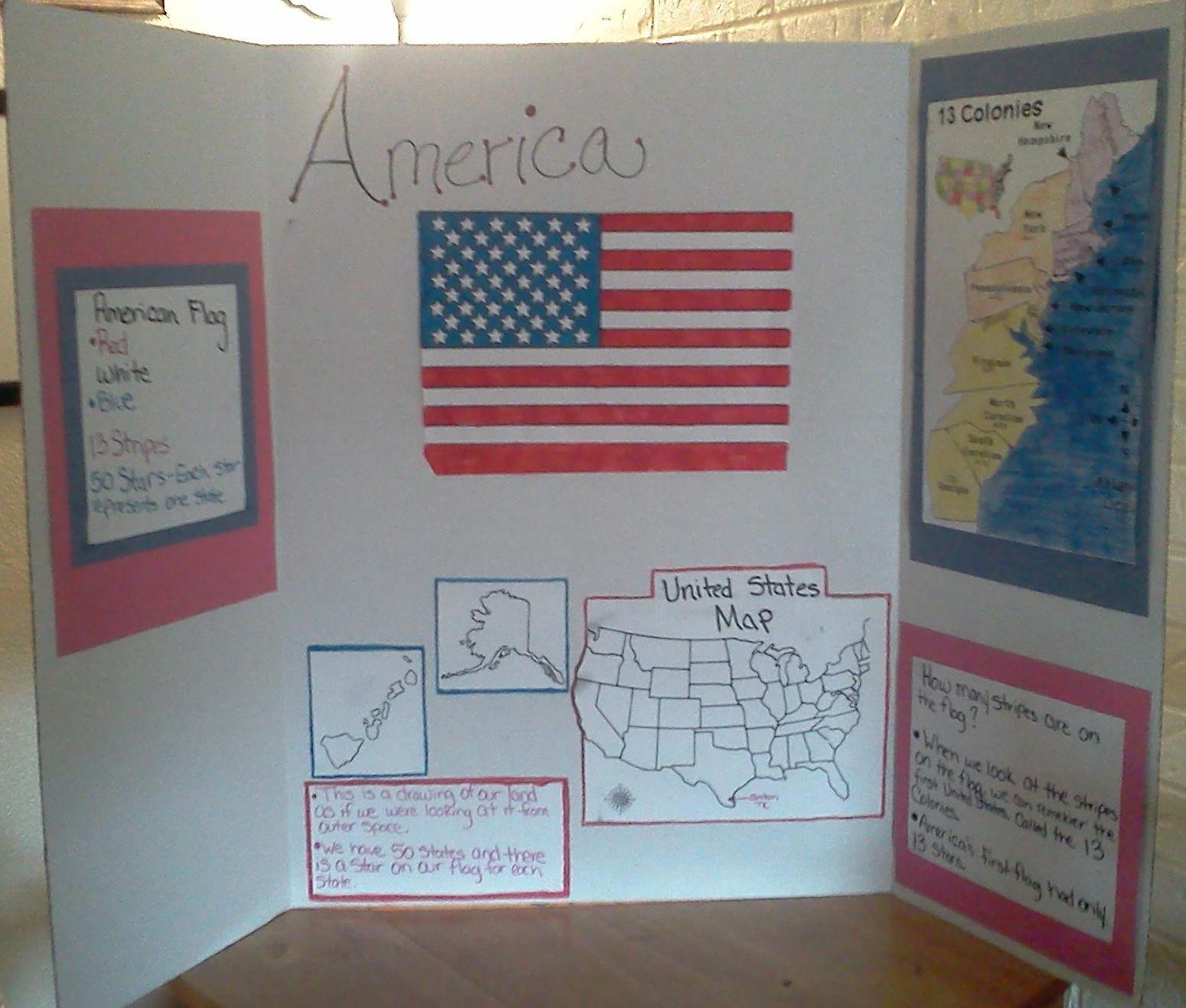 American Flag History Board First Grade