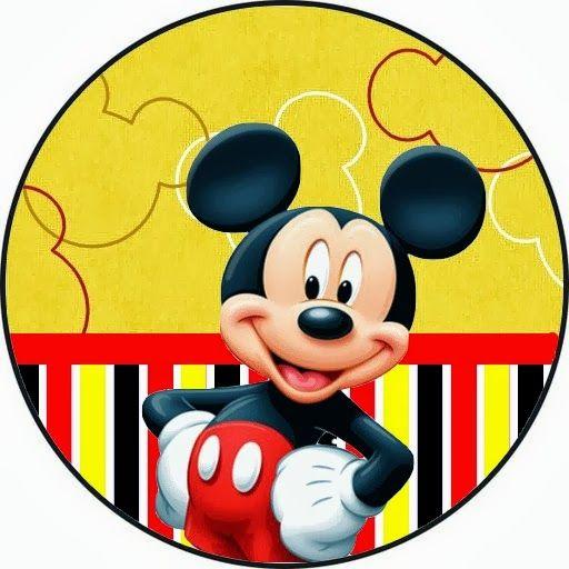 Kit Personalizados Tema Mickey Em Vermelho Marelo Preto E Branco