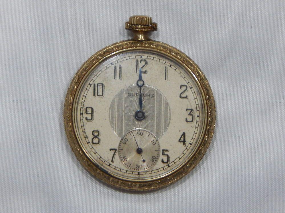 daf5bbfb0 Antique Supreme Langendorf Swiss Gold Filled 15 Jewel Size 12 Pocket Watch  #SupremeLangendorf