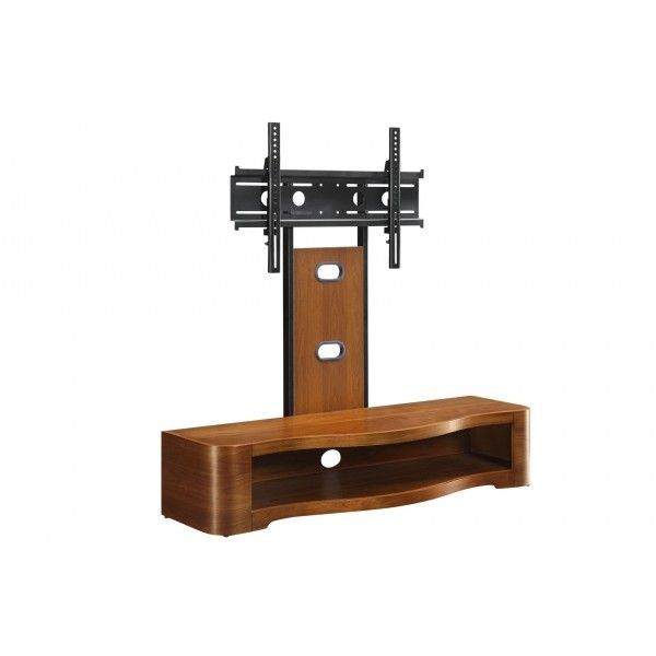 Jual Furnishings Walnut Cantilever TV Stand   JF210 Up To 60
