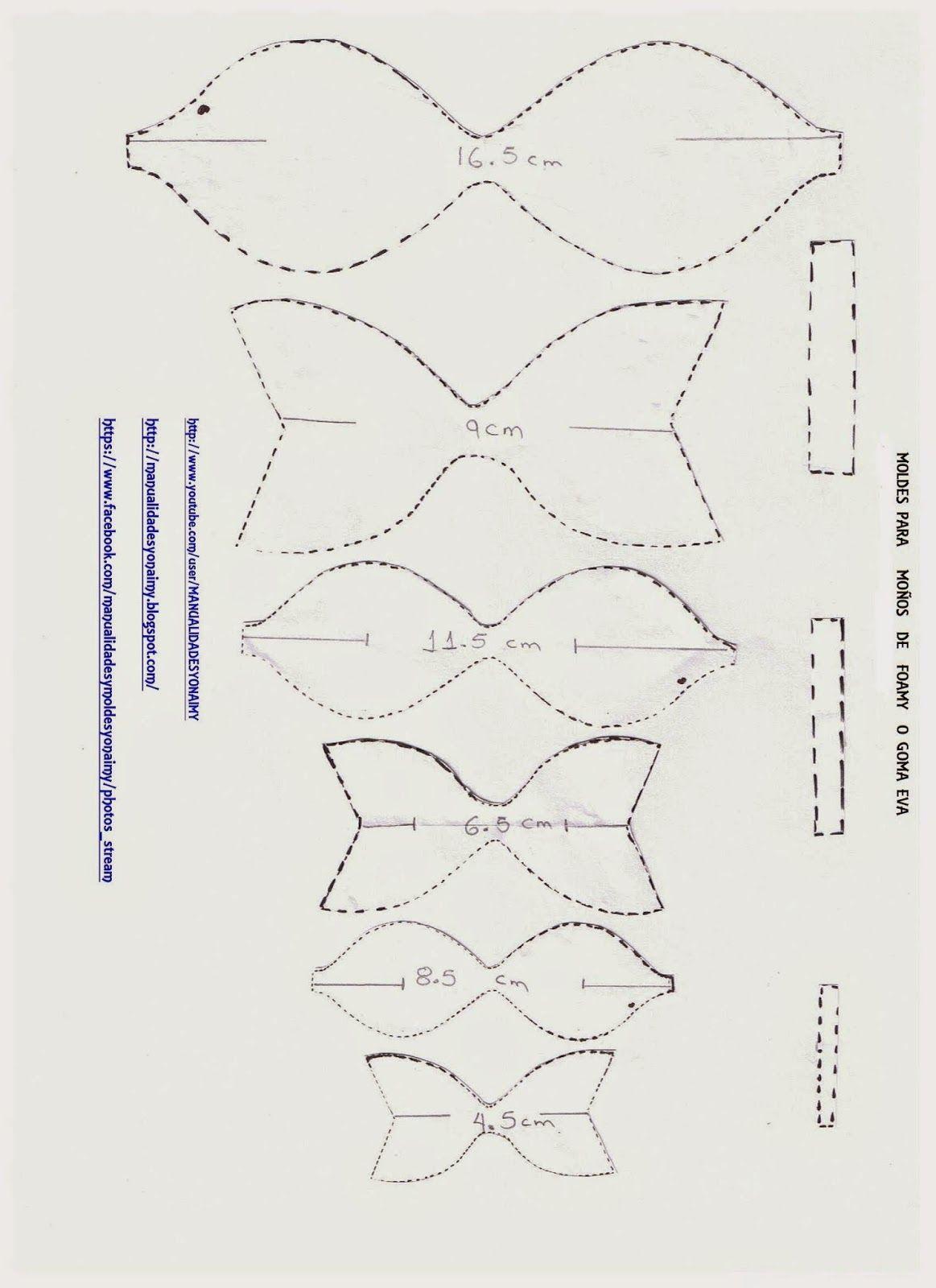 Manualidades yonaimy enero 2015 molde mo os vinil for Cartamodello per papillon