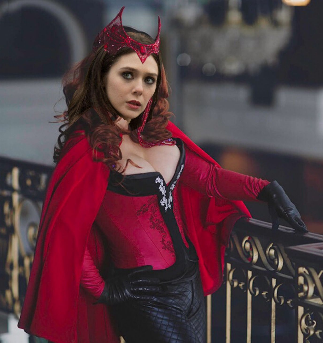 Scarlet Witch With Headpiece And Comic Outfit Scarlet Witch Costume Super Hero Costumes Cosplay