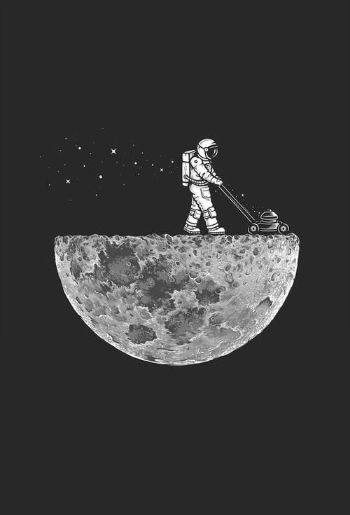 • people life beautiful sky gorgeous Awesome supreme moon night space stars fun crazy future sun sweet planets planet astronaut constellation • //Astronaut mowing the moon in space
