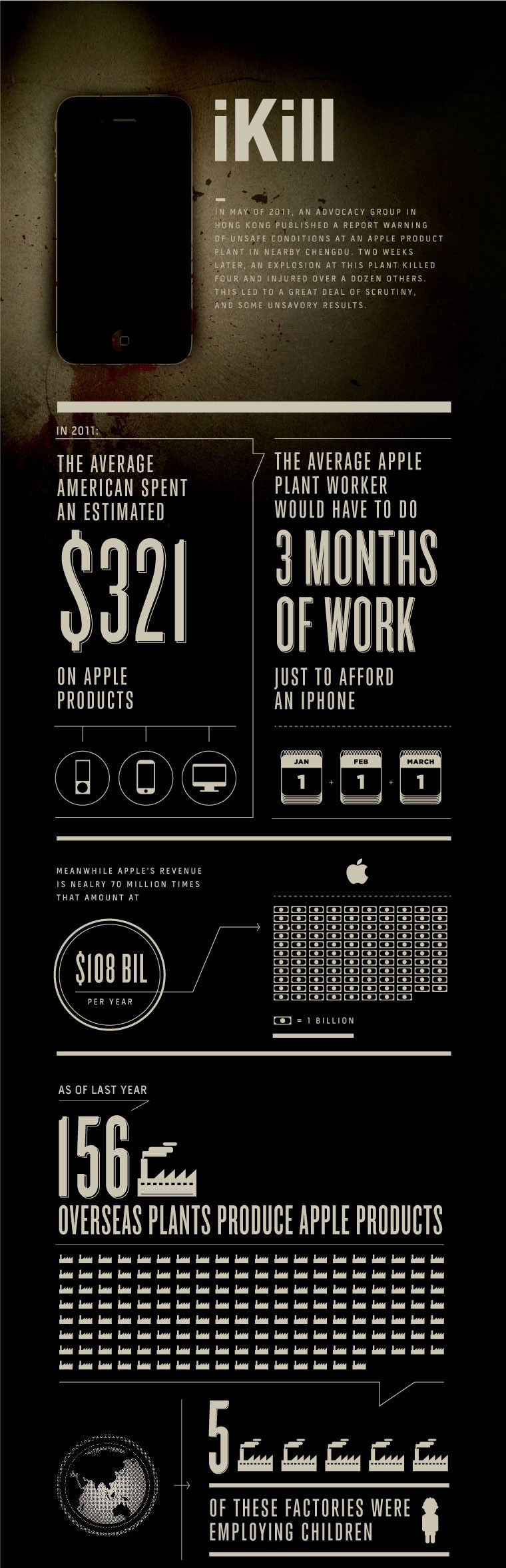 """""""iKill"""" Infographic Charts The Human Cost Of The iPhone"""