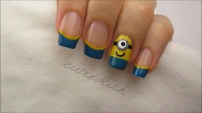 So Awesome!! Despicable Me Nails! :D #CuteNails