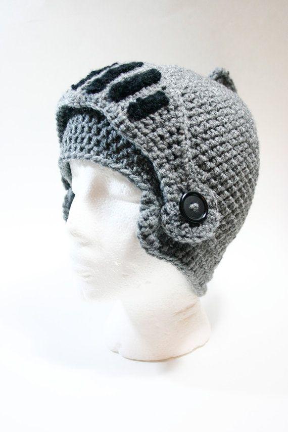 HECHO por encargo: Medieval sombrero de ganchillo casco de caballero ...