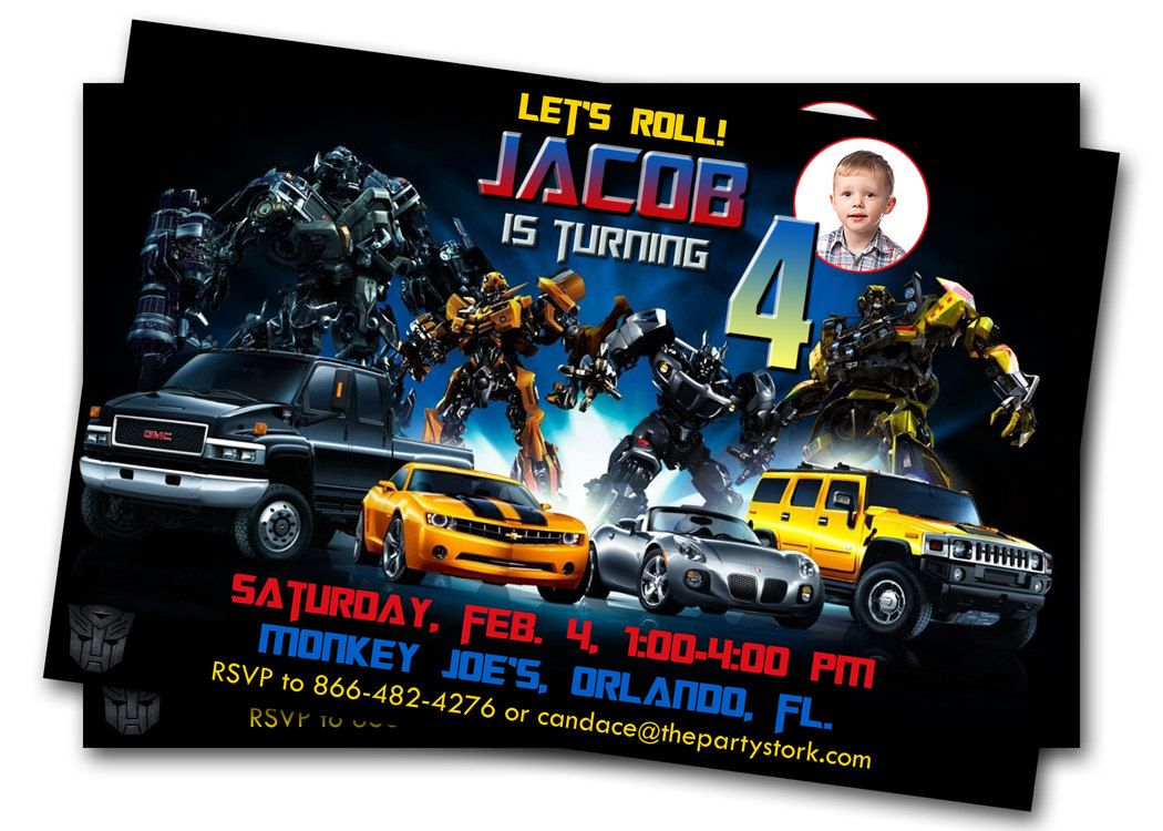 Transformers birthday invitations aidens 4th birthday pinterest transformers birthday invitations filmwisefo