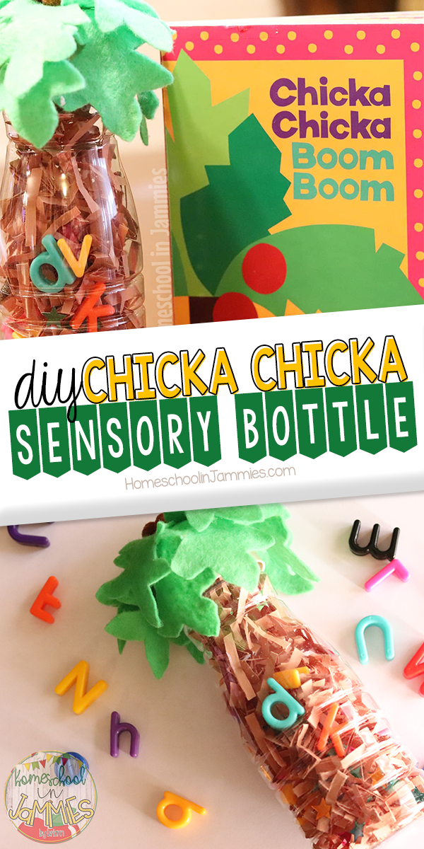 DIY Chicka Chicka Boom Boom Sensory Bottle #sensorybottles