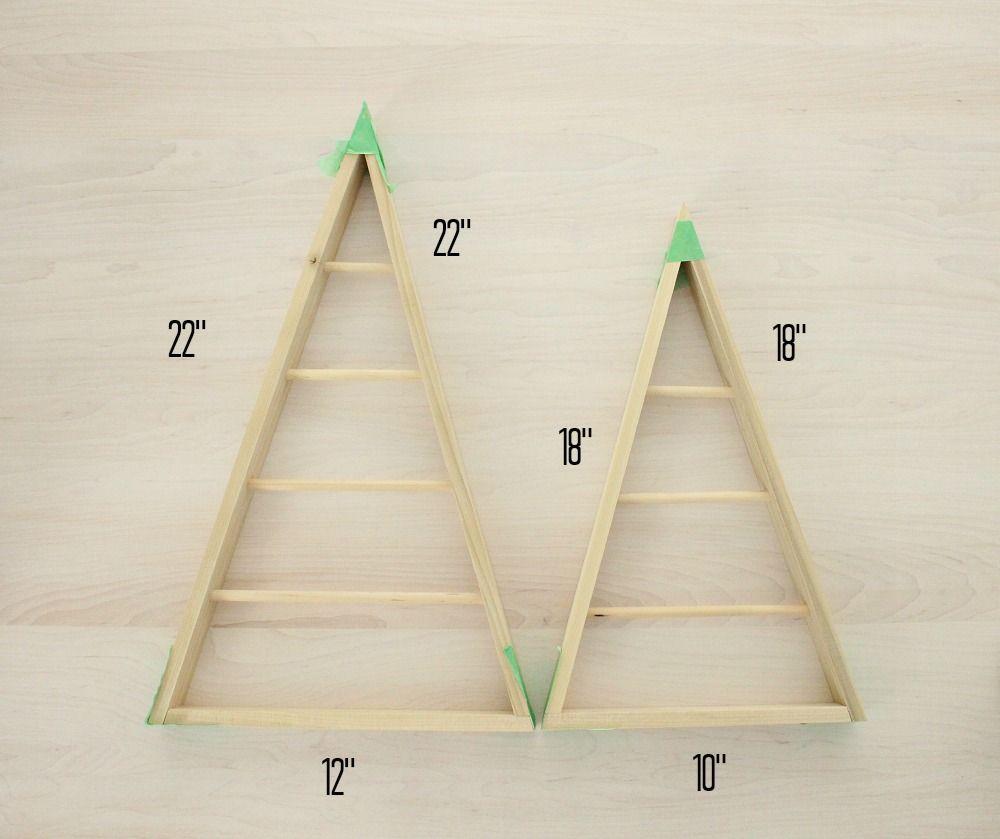 DIY Wood A-Frame Triangle Ornament Stand | święta | Pinterest | Diy ...