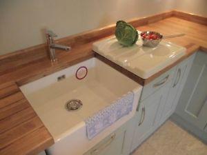 belfast sink butler white ceramic kitchen drainer rrp 199 - Ceramic Kitchen Sink