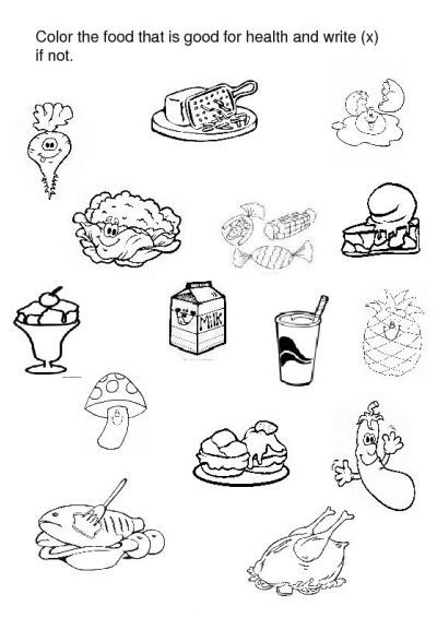 Crafts Actvities And Worksheets For Preschool Toddler And Kindergarten Healthy And Unhealthy Food Unhealthy Food Pictures Worksheets For Kids