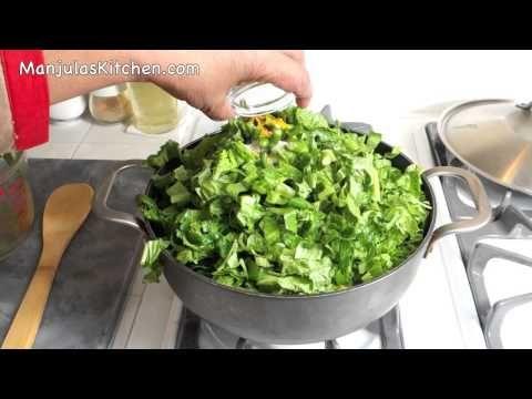 Sarson Ka Saag Mustard Greens And Spinach Recipe By Manjula Youtube Sarson Ka Saag Saag Spinach Recipes