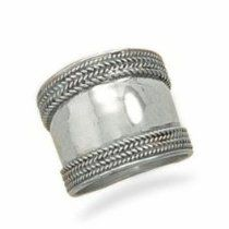 Cigar Band Ring Classic Wide Bali Ster