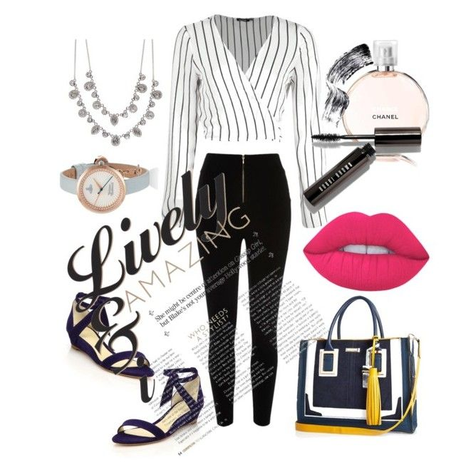 """""""#00017"""" by glitchsama on Polyvore featuring Alexandre Birman, River Island, Chanel, Givenchy, Lime Crime and Bobbi Brown Cosmetics"""