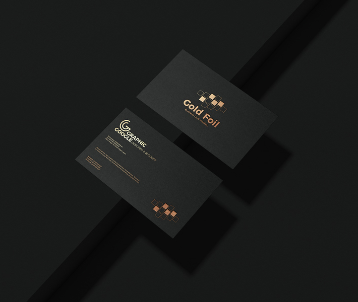 Download Free Download Creative Black Gold Foil Business Card Psd Mockup Business Card Foil Business Cards Business Card Mock Up Gold Foil Business Cards