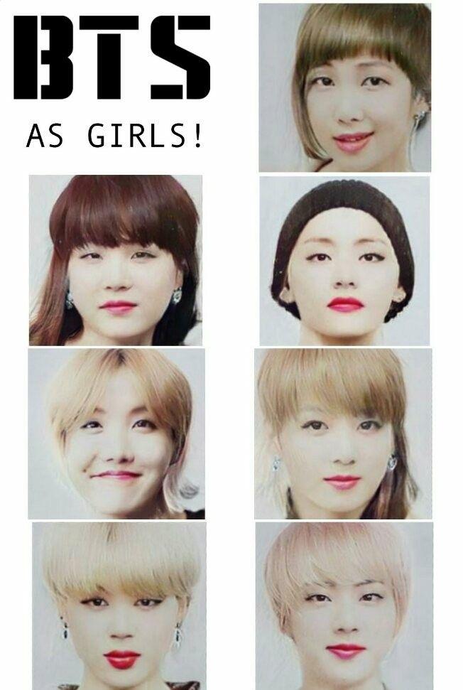RM looks glitched, Suga looks like my mom but shorter, V ...