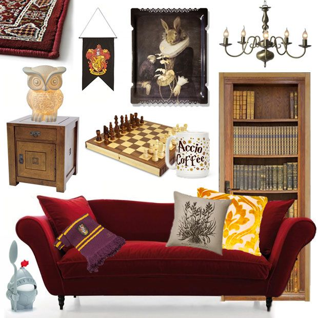 get the d co la salle commune de gryffondor dans harry potter harry potter salon et salle. Black Bedroom Furniture Sets. Home Design Ideas