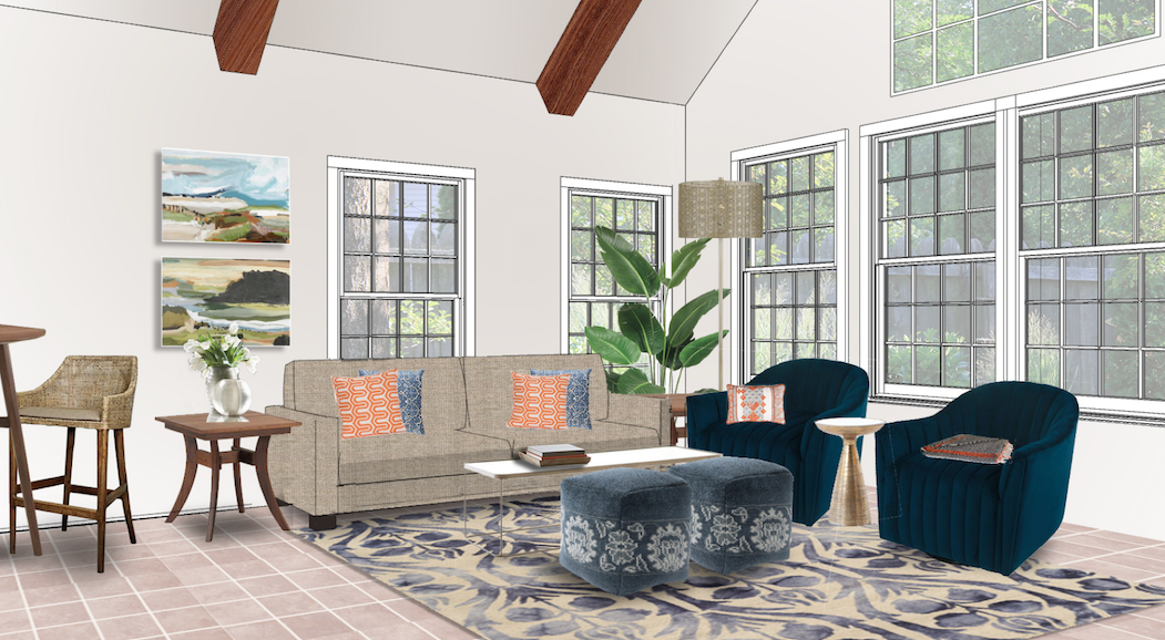 Design Spotlight A Transitional Living Room Filled With Color Colourful Living Room Transitional Living Rooms Colorful Living Room Design #spotlight #in #living #room
