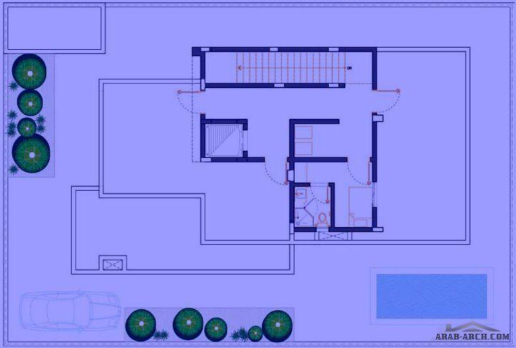 مخطط فيلا الامواج نموذج D مسطح البناء 408 متر مربع متوسط مساحة الارض 381 متر مربع Arab Arch House Layouts Duplex Plans Bungalow House Plans
