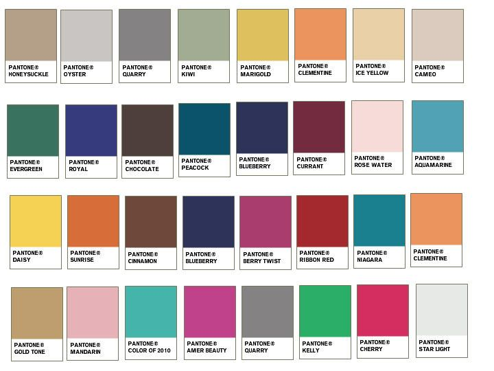Spring summer color for 2011 from pantone peaches pears - Home depot exterior paint color chart ...