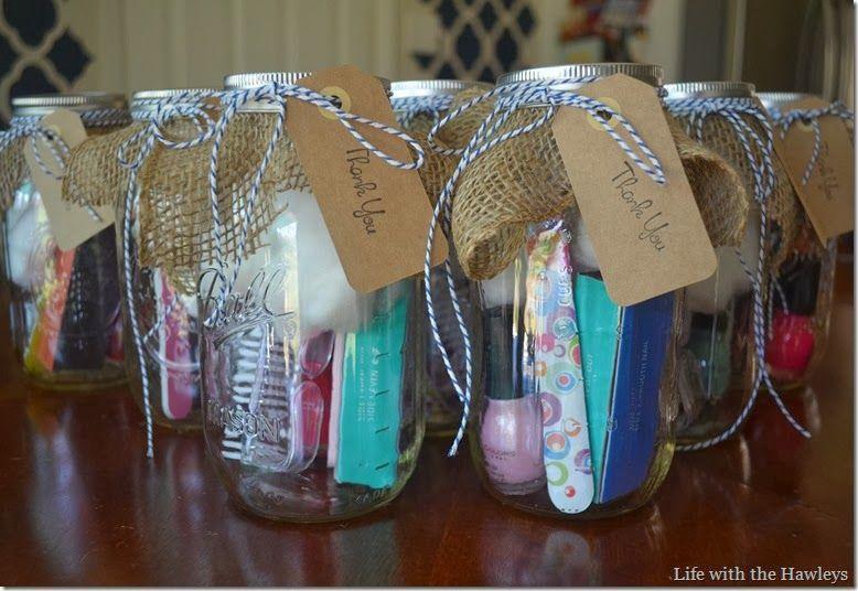 Baby Shower Hostess Gifts: DIY Mason Jar Manicure Kit | Gift Ideas ...