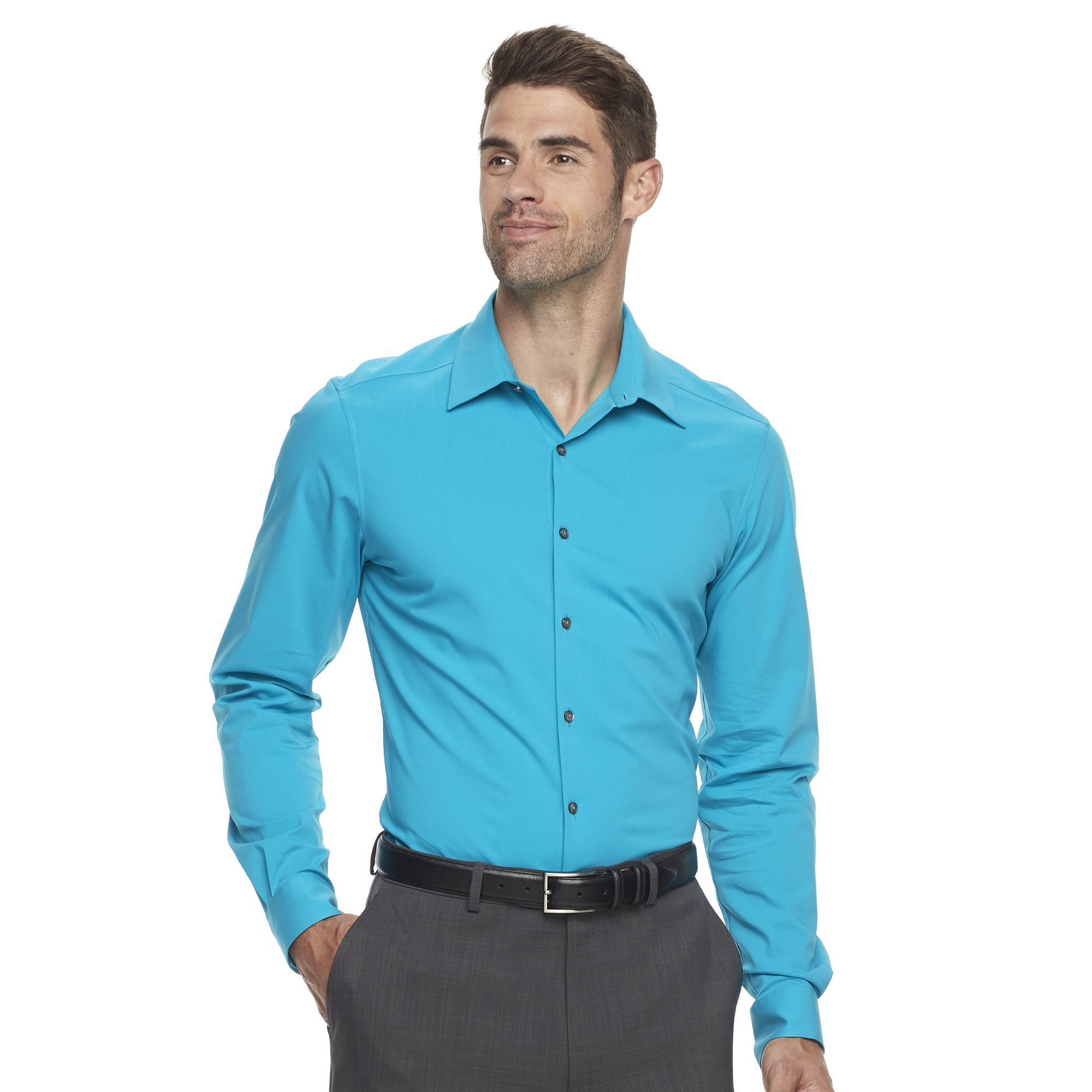 Men's Van Heusen Flex 3 Slim Fit 4-Way Stretch Dress Shirt, Size ...