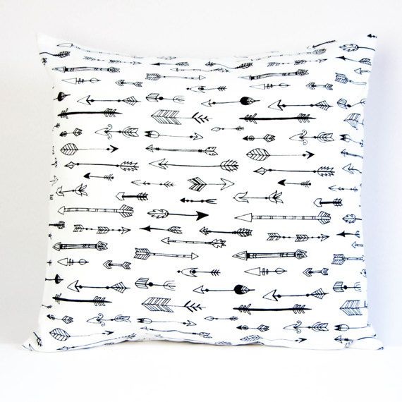 Kussenhoes 40 X 65.Arrow Pillow Cover Black And White Cushion Cover Monochrome Pillow