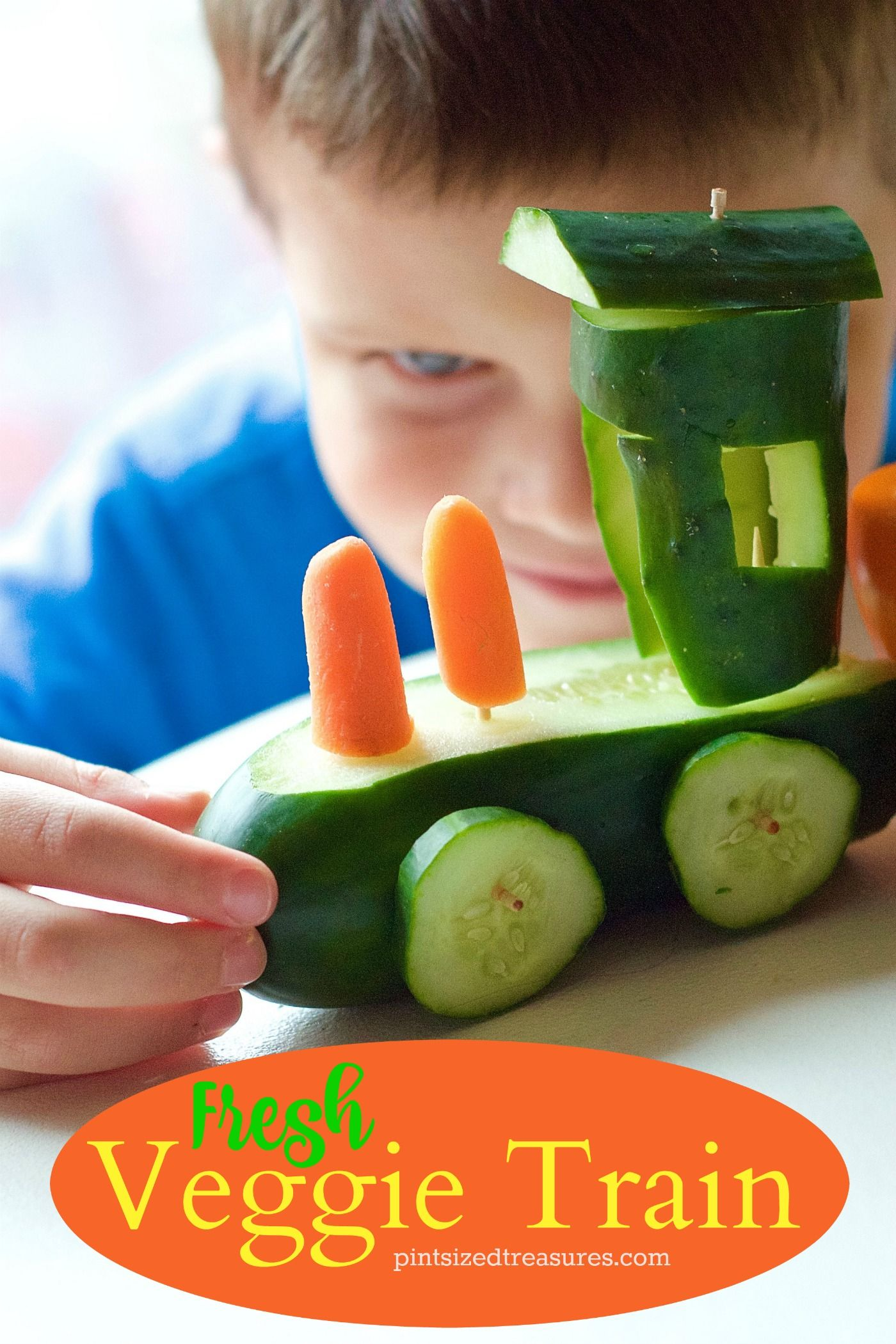 Check out this fresh veggie train that takes veggie trays to a whole other level! Kids will love eating fresh and colorful veggies out of a fun train!