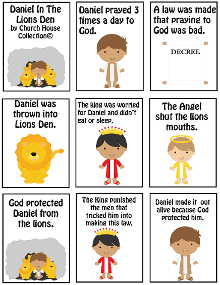 simple bible stories for preschoolers daniel in the lions den mini book printable free bible 270
