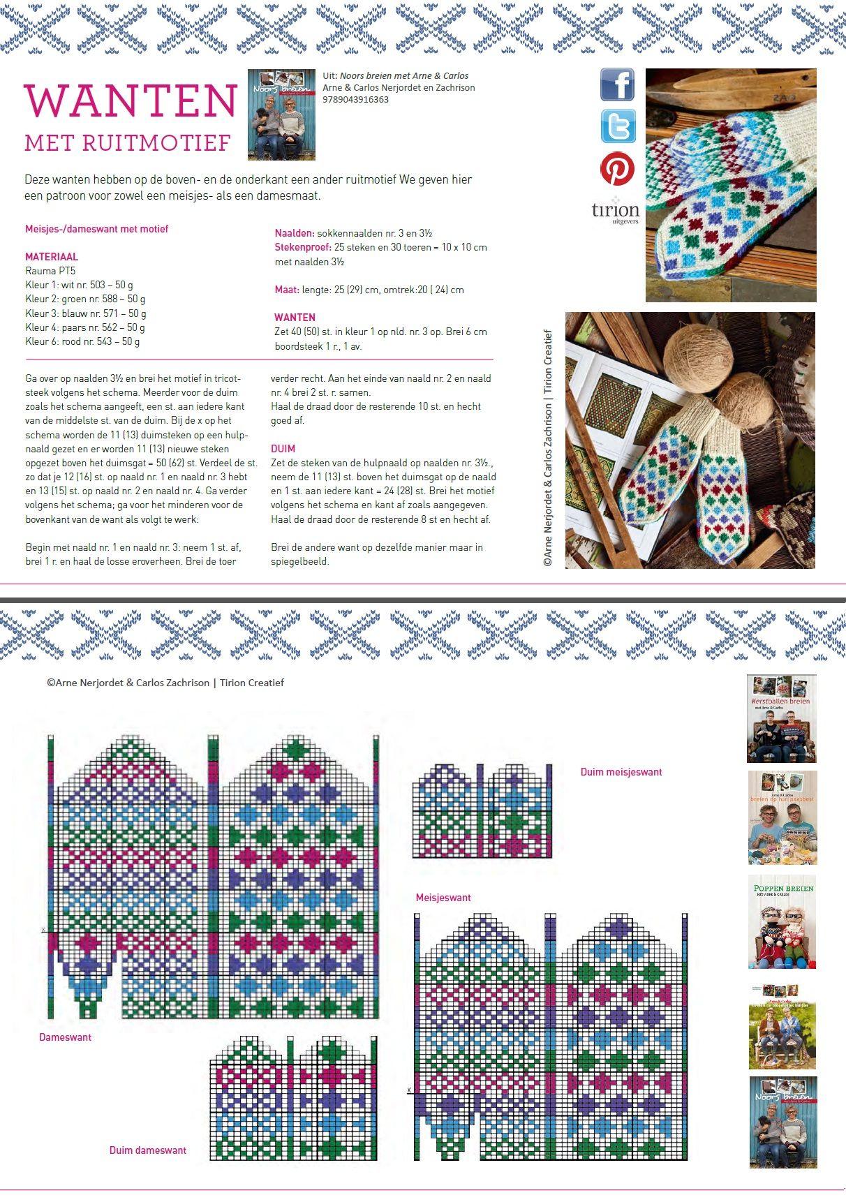 Arne & Carlos #pattern #Glove | kesztyű | Pinterest | Manopla ...