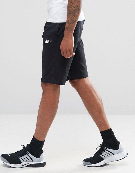b9ed47f84026 Nike jersey shorts in black 804419-010