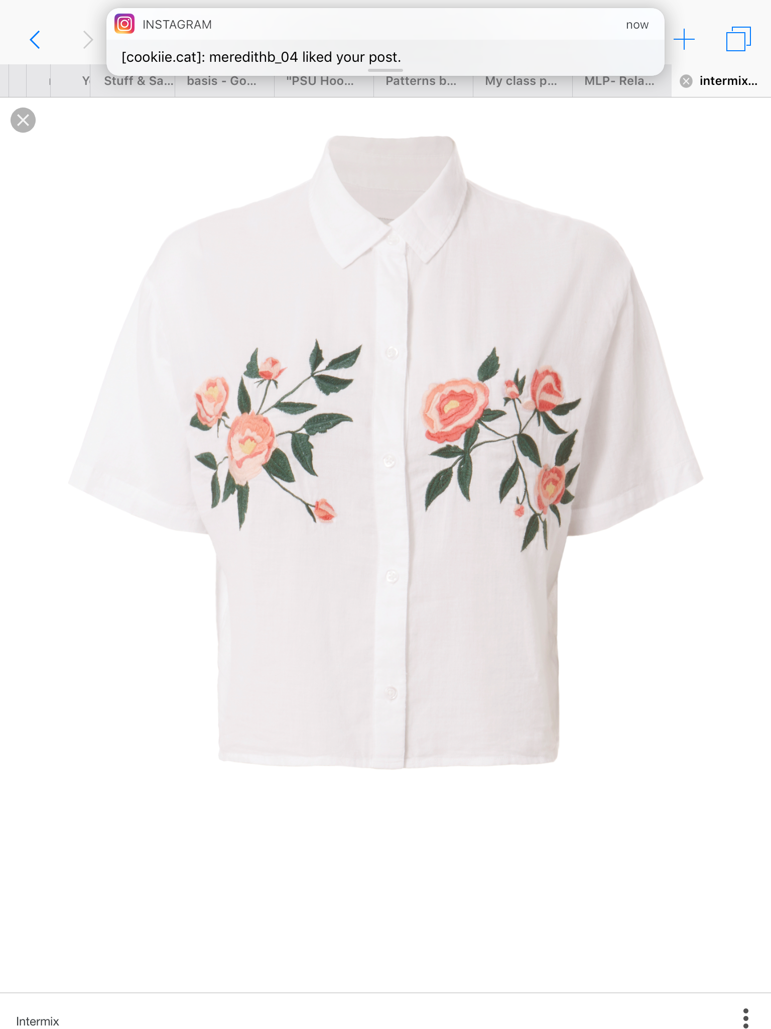 67579ce2a Pin by Sydney Ross on Wish list | Patterned button up shirts, White short  sleeve tops, Button downs