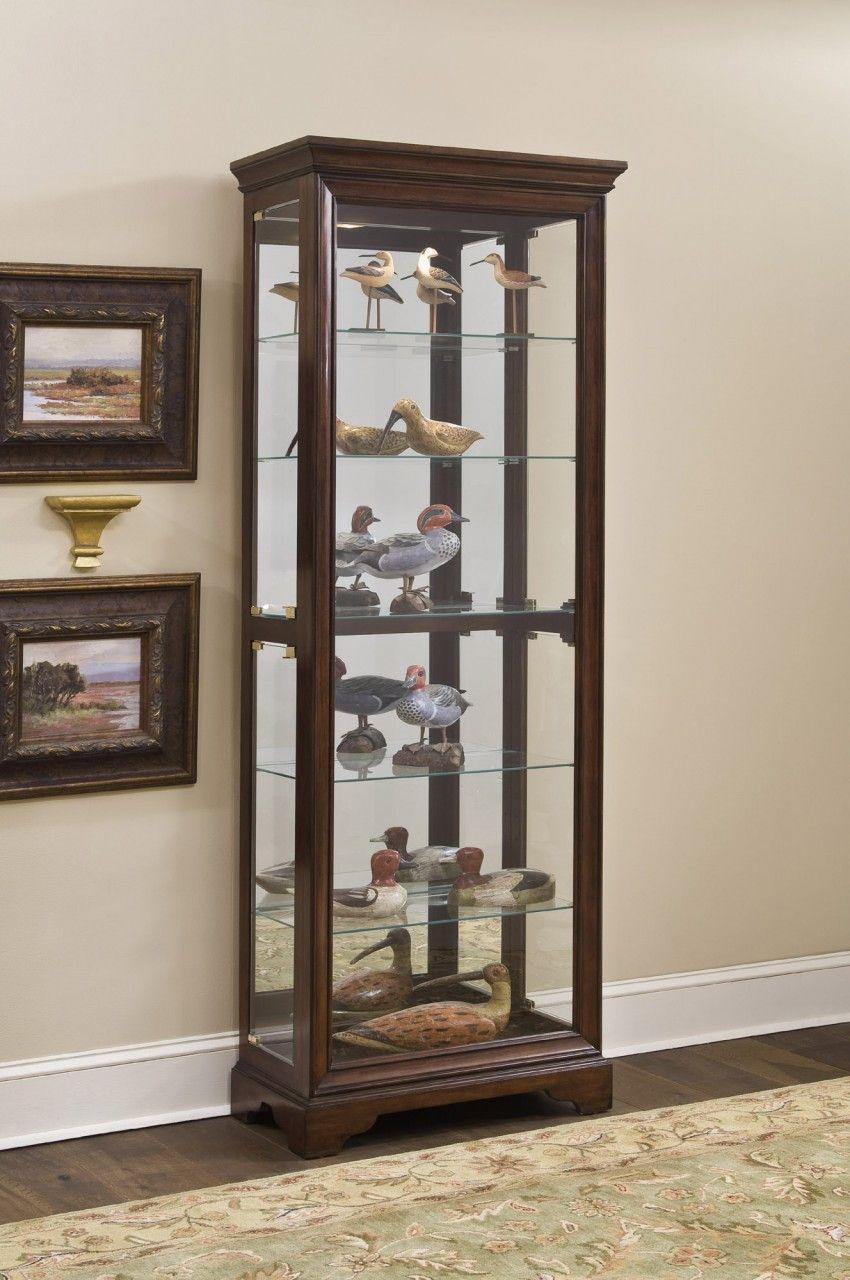 Gallery Cherry Curio Cabinet by Pulaski Furniture | Furniture ...