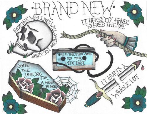 Brand New Flash Tattoo Sheet Brand New Tattoos Tattoo Flash Sheet Punk Tattoo