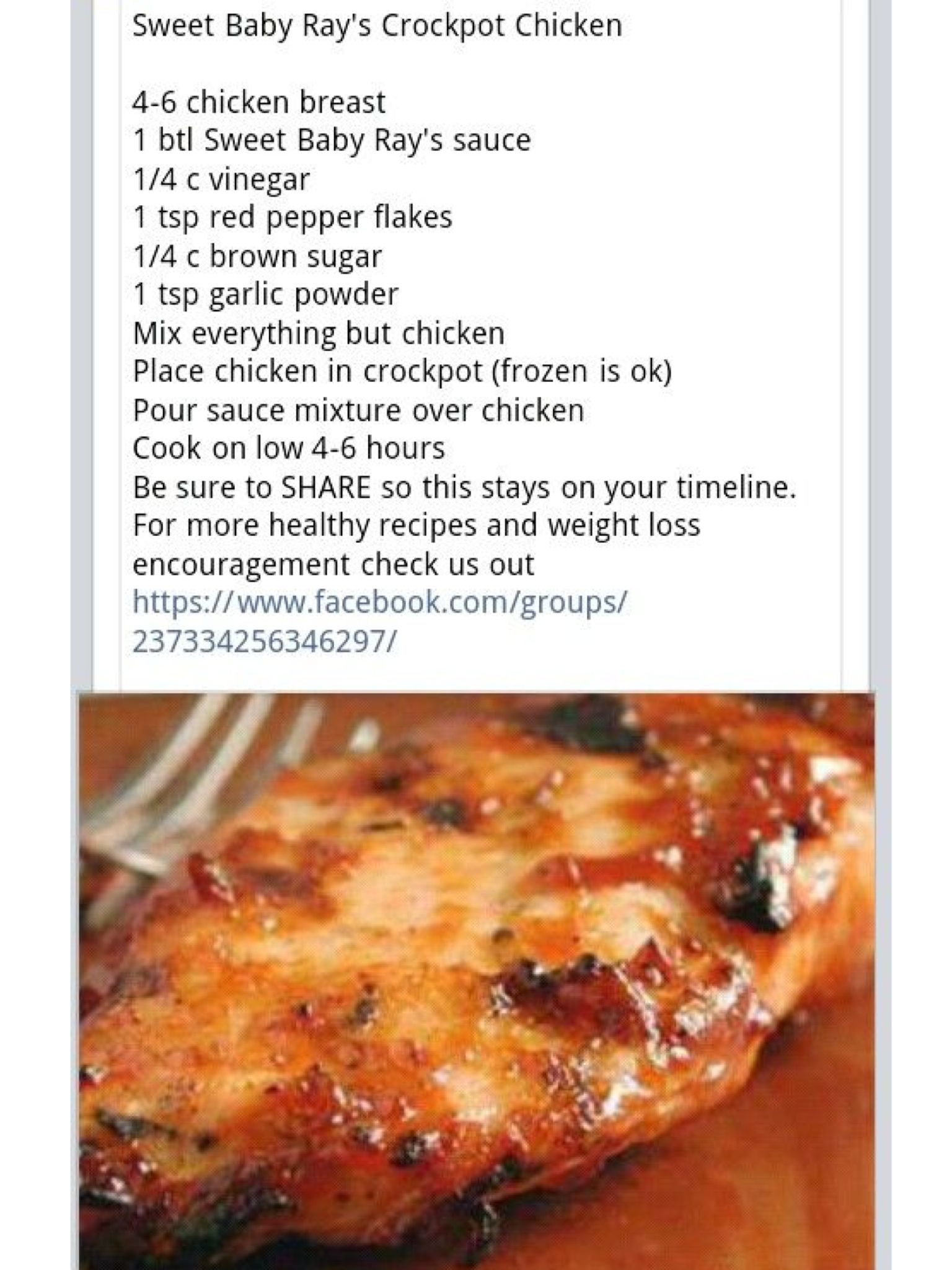 Sweet Baby Ray S Crockpot Chicken Food Recipes Crockpot Dishes Crock Pot Cooking