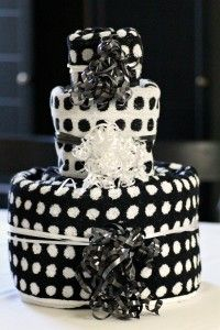 Tiered Towel Cake Tutorial ~ Great for just about any occasion... bridal shower, mothers day, housewarming, birthday
