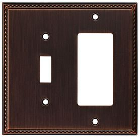 Allen And Roth Wall Plates Captivating Allen Roth 2Gang Oil Rubbed Bronze Decorator Single Receptacle Inspiration Design