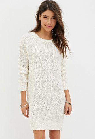 Forever 21 white cat sweater dress
