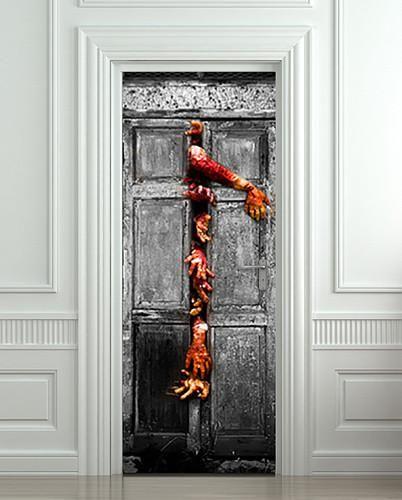 3D Door Wall Stickers 77 x 200 cm Waterproof European Door Decal Home Decoration